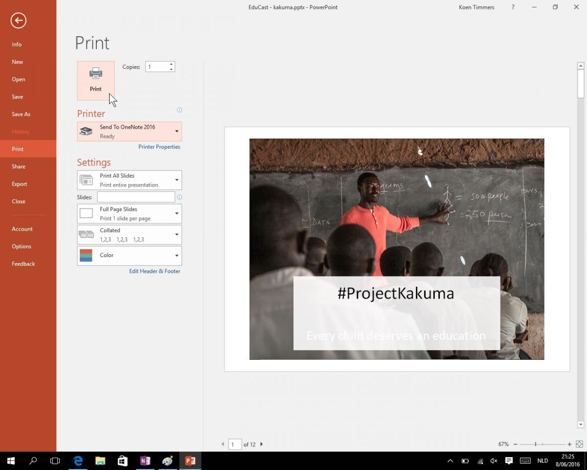 Powerpoint to OneNote